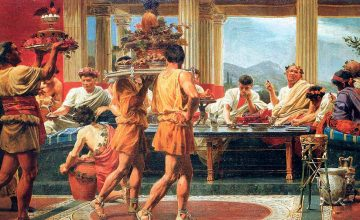 Cuadro banquete griego