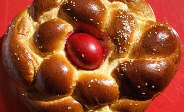 What is eaten in Greece on Easter?